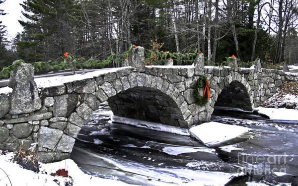 Henniker Photograph - Hillsborough Stone Bridge by Scott Moore