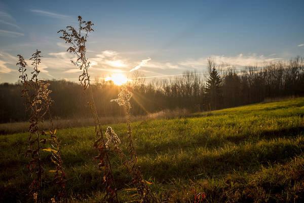 Photograph - Hillside Autumn Sunrise by Chris Bordeleau