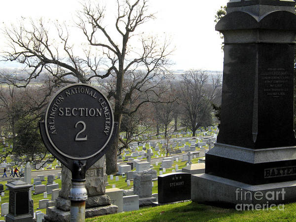 Photograph - Hillside Graves At Arlington National Cemetery by William Kuta