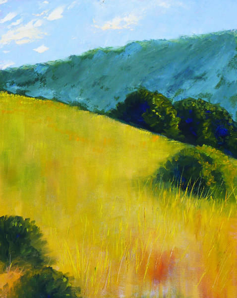 Prairie Grass Painting - Hillside Prairie by Nancy Merkle