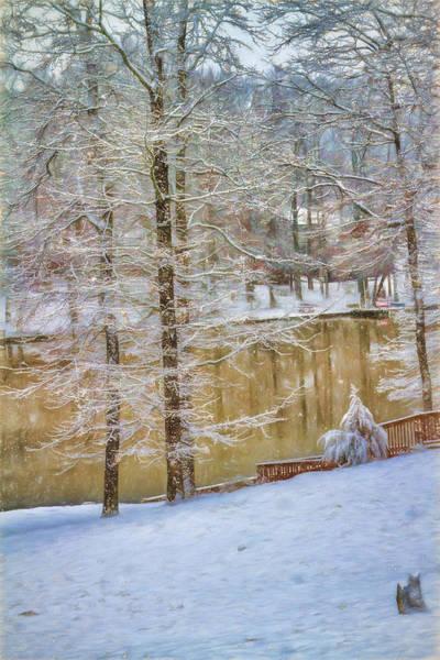 Photograph - Hillside Snow - Winter Landscape by Barry Jones