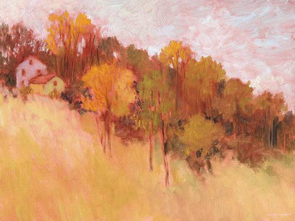 Hillside Trees Art Print
