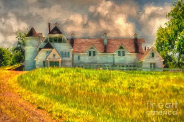 Digital Art - Hilltop Farm by Lois Bryan