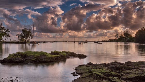 Port Orange Photograph - Hilo Bay Sunrise by Eduard Moldoveanu