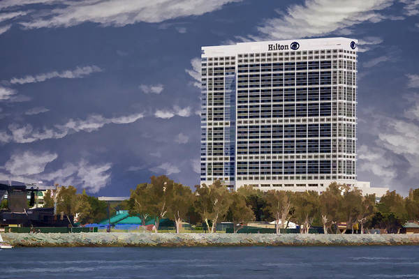 Digital Art - Hilton Bayfront by Photographic Art by Russel Ray Photos