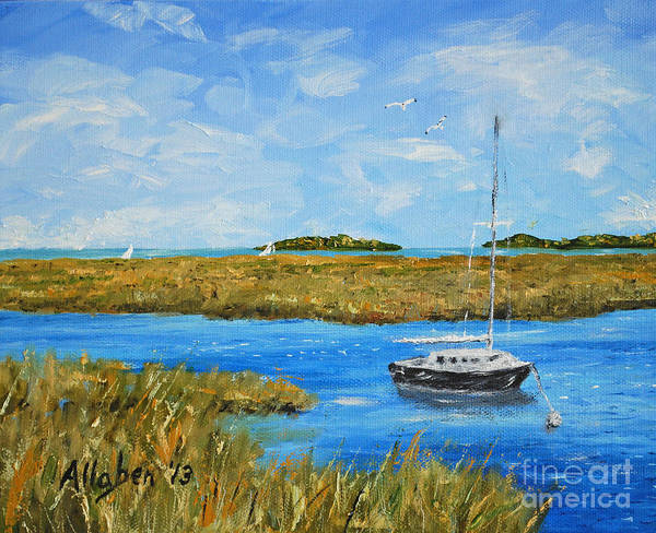 Painting - Hilton Head Mooring by Stanton Allaben