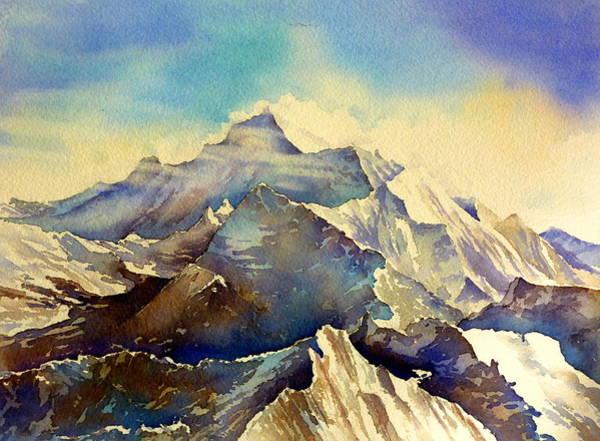 Himalaya Wall Art - Painting - Himalaya by Thomas Habermann