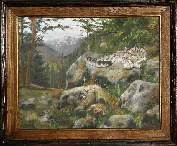 Painting - Himalayan Dreaming On Such A Summer's Day Framed by Lori Brackett