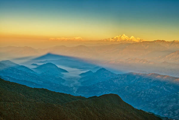 Photograph - Himalayan Mountains View From Mt. Shivapuri by U Schade