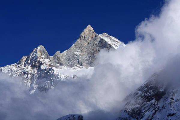Photograph - Machhapuchhre Mountain Peak by Aidan Moran