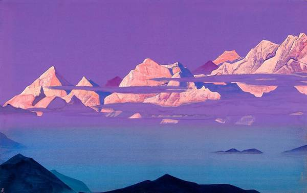 Nk Roerich Painting - Himalayas by Nicholas Roerich