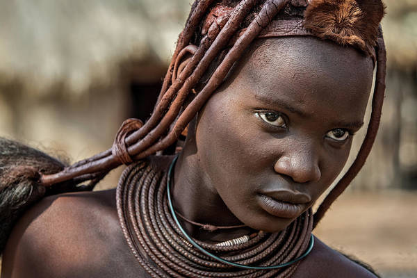 Wall Art - Photograph - Himba Girl by Piet Flour
