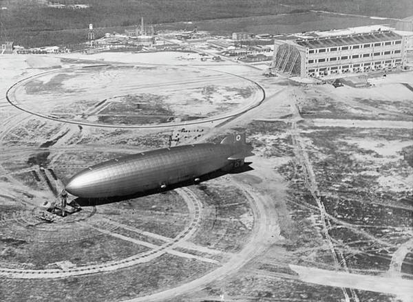 Lakehurst Photograph - Hindenburg Airship At Nas Lakehurst by Us Navy