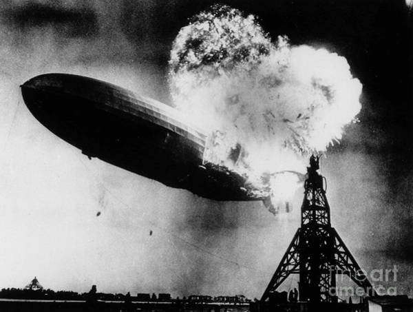 Lakehurst Photograph - Hindenburg Disaster  by Celestial Images