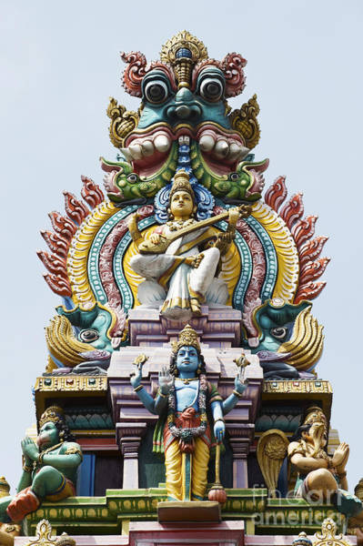 Yogic Wall Art - Photograph - Hindu Temple Gopuram India by Tim Gainey
