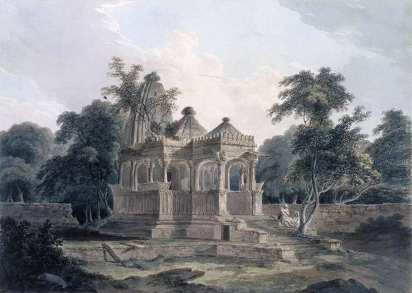 Hindu Photograph - Hindu Temple In The Fort Of The Rohtas by Thomas & William Daniell
