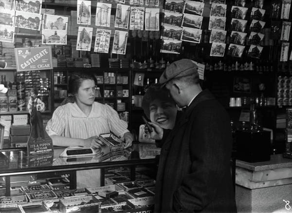 Photograph - Hine Cigar Store, 1917 by Granger