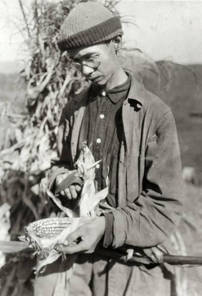Wall Art - Photograph - Hine Corn Farmer, 1921 by Granger