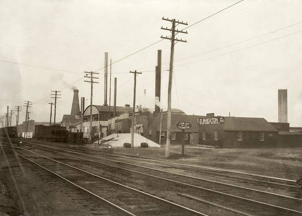 Photograph - Hine Glass Works, 1909 by Granger