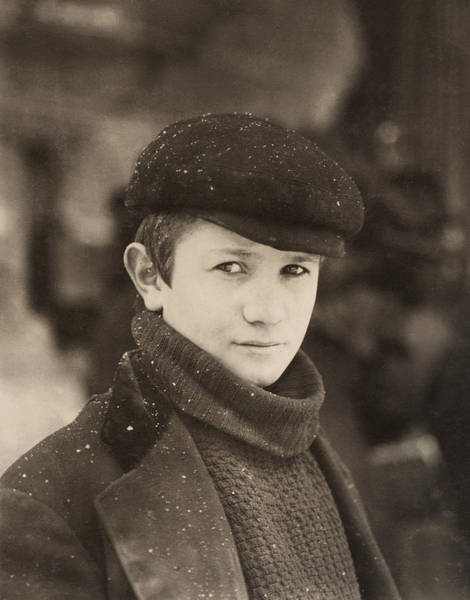Photograph - Hine Newsboy, 1910 by Granger