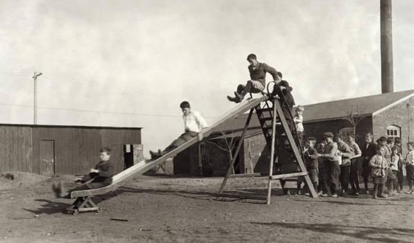 Muskogee Photograph - Hine Schoolyard, 1917 by Granger