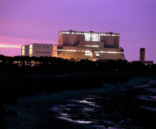 Controversial Wall Art - Photograph - Hinkley Point Nuclear Power Station by Martin Bond/science Photo Library