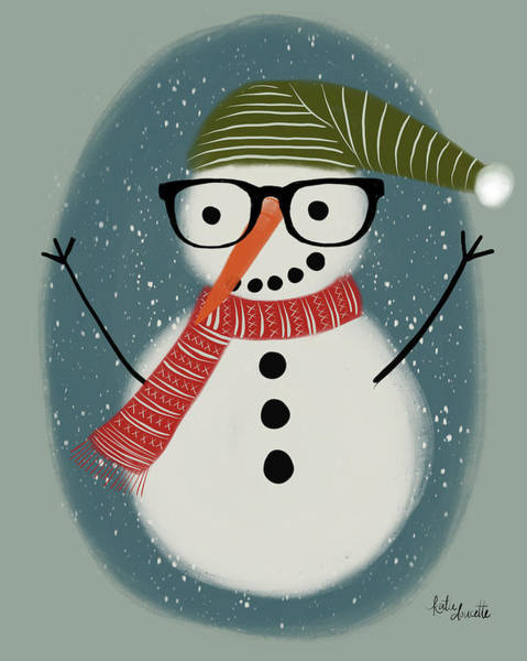 Wall Art - Painting - Hip Snowman by Katie Doucette