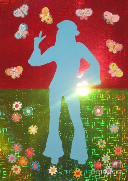 Wall Art - Mixed Media - Hippie Girl by Jeepee Aero