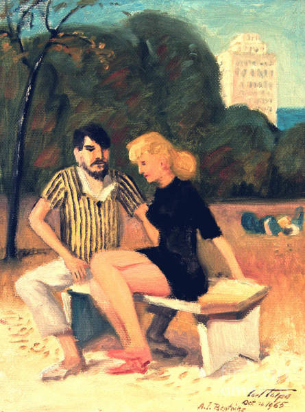 Painting - Hippies In Grant Park by Art By Tolpo Collection