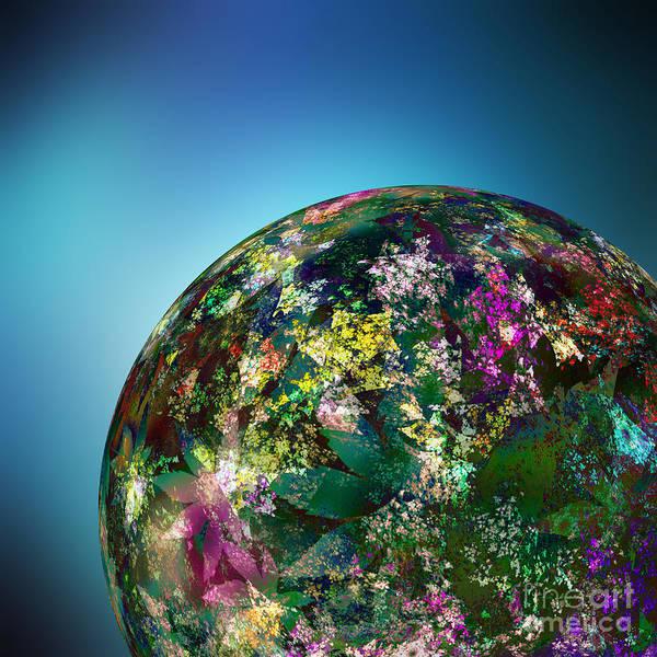 Hippy Digital Art - Hippies' Planet 2 by Klara Acel