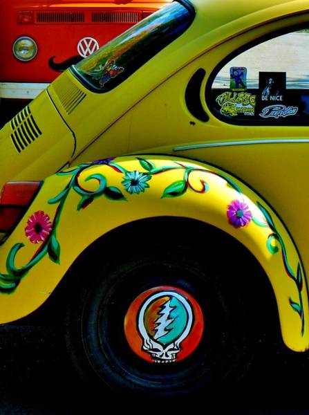 Greatful Dead Photograph - Hippy Bug by Kimberly Dawn Clayton