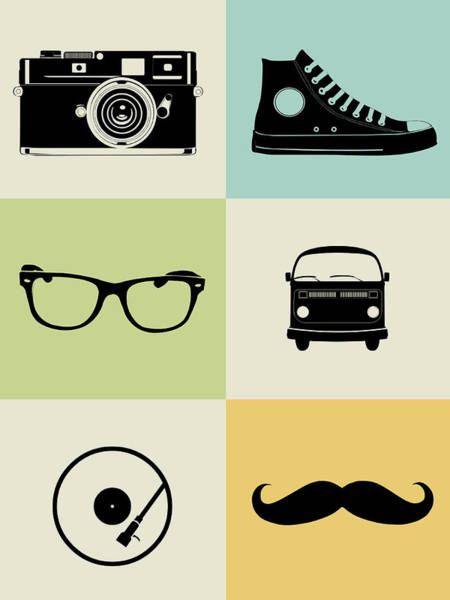 Amusing Wall Art - Digital Art - Hipster Mix Poster by Naxart Studio