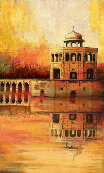 Wall Art - Painting - Hiran Minar by Catf