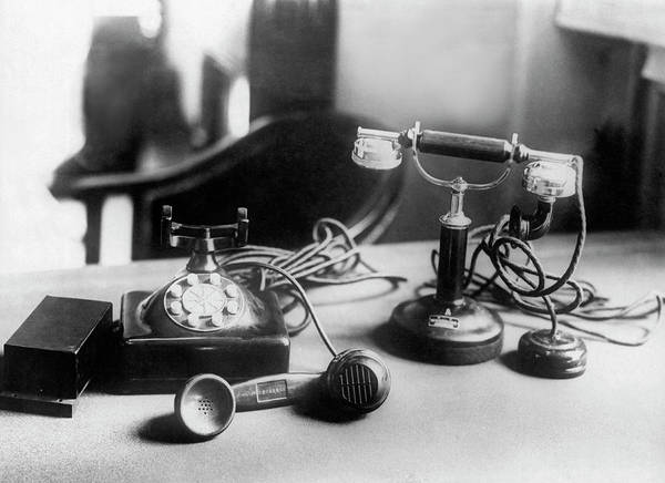 Emperor Of Japan Wall Art - Photograph - Hirohito's First Telephone by Underwood Archives