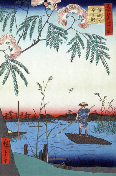 Wall Art - Painting - Hiroshige Ayase River, 1857 by Granger