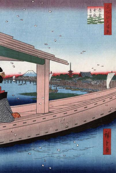 Wall Art - Painting - Hiroshige Azuma Bridge by Granger