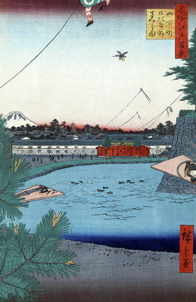 Wall Art - Painting - Hiroshige Hibiya, 1857 by Granger