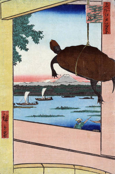 Wall Art - Painting - Hiroshige Mannen Bridge by Granger