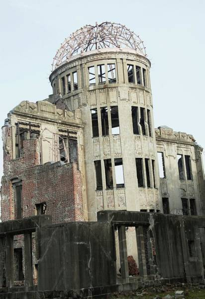 Atomic Bomb Photograph - Hiroshima Peace Memorial by Andy Crump/science Photo Library