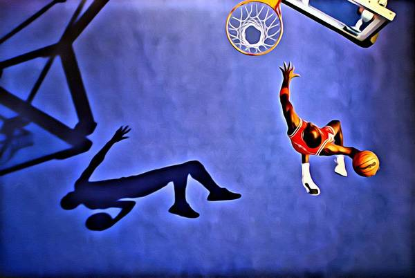 Wall Art - Painting - His Airness Michael Jordan by Florian Rodarte