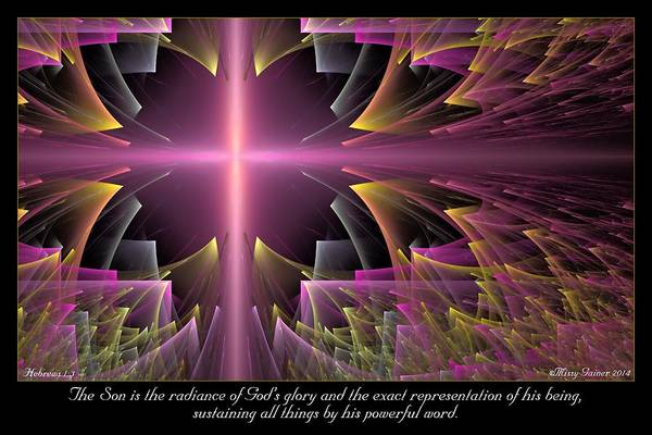 Digital Art - His Powerful Word by Missy Gainer