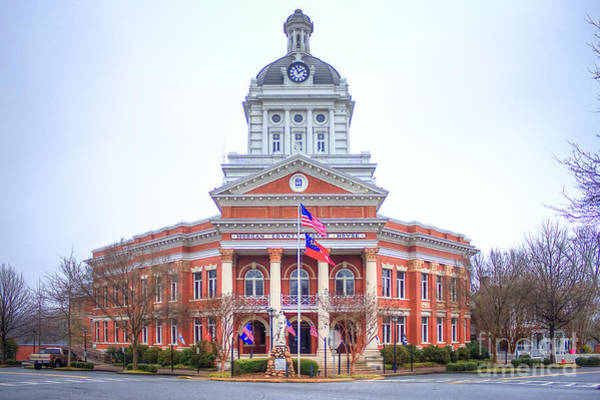 Photograph - Historic Morgan County Court House Morgan County Georgia by Reid Callaway