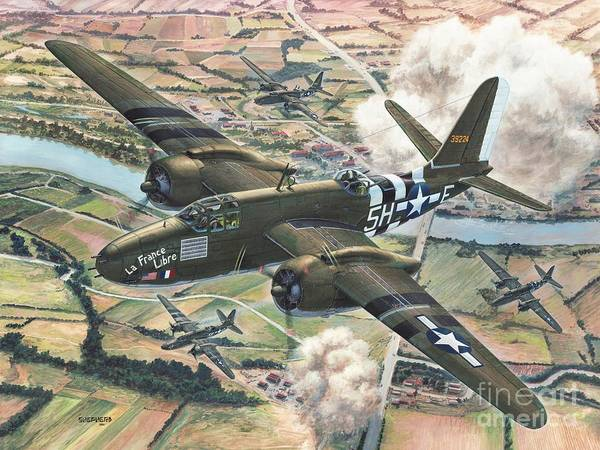 Bomber Painting - Historic A-20 Havoc by Stu Shepherd
