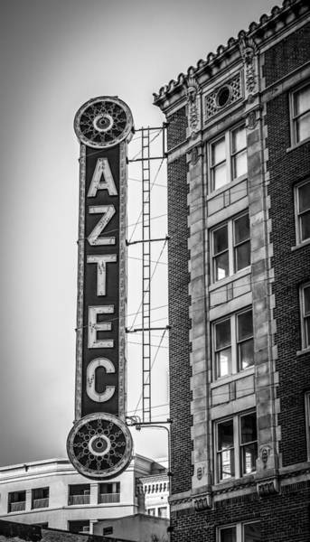 Photograph - Historic Aztec Theater by Melinda Ledsome