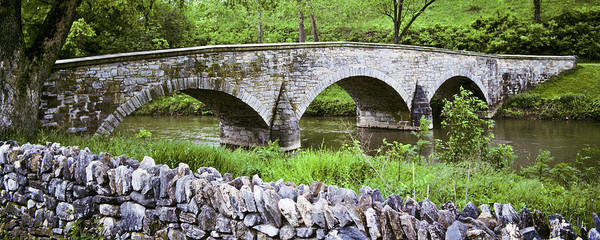 Antietam Photograph - Historic Burnside Bridge And Stone Wall by Jeffgoulden