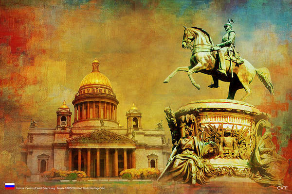 Ascension Painting - Historic Center Of Saint Petersburg by Catf