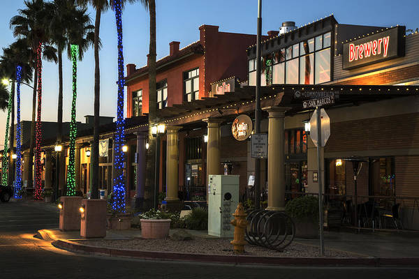 Chandler Photograph - Historic Chandler Az Downtown Boardwalk by Dave Dilli