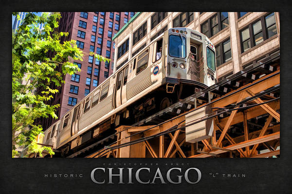 Elevated Wall Art - Painting - Historic Chicago El Train Poster by Christopher Arndt
