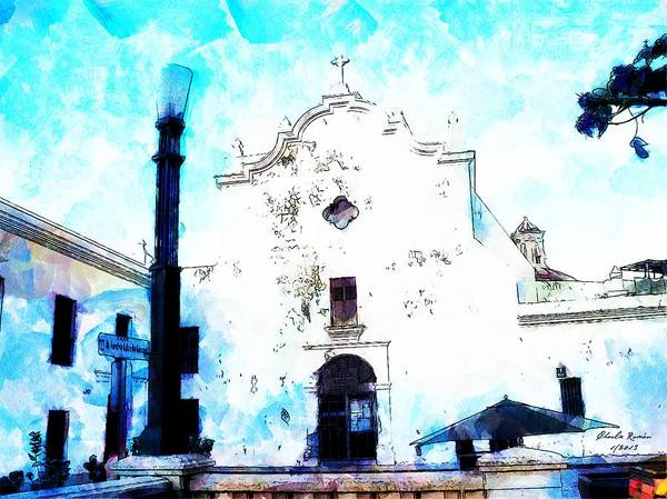 Painting - Historic Church by Charlie Roman