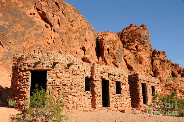 Civilian Conservation Corps Wall Art - Photograph - Historic Civilian Conservation Corps Stone Cabins In The Valley Of Fire by Gary Whitton